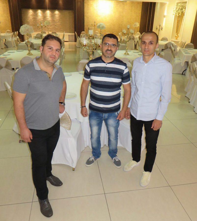 (Op de foto staan v.l.n.r. Maykel Mirza, Shamoun Salman en Charbel Lahdo)